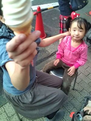 新宿でソフトクリーム