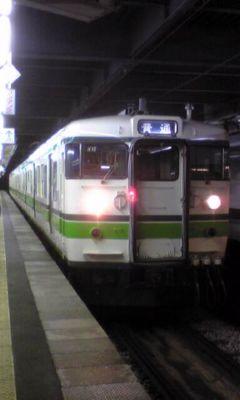 越後湯沢からまた在来線。最終の長岡行きで一気に長岡まで。