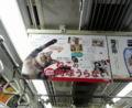 丸ノ内線 中吊り広告「ねこの肉球占い」。