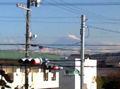 【写真】今日も快晴! 社窓(静岡市駿河区)から富士山。