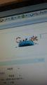 Googleのロゴがクッキーモンスターだ!可愛い。