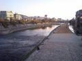 「ホルモー」というリクエストにお応えして三条大橋から見た鴨川。本