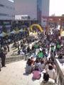 宇都宮餃子祭り:二荒山神社だっけ?境内前の会場、今日の11 時半頃の