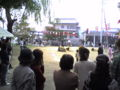 神社で運動会