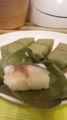 田中さんおすすめの柿の葉寿司を買ってきた(^o^)いただきまーす!!