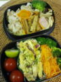 焼売、茸ソテー、薩摩芋と胡桃サラダ、人参サラダ、酢牛蒡、プチトマ