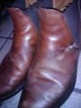 ゴキブリ色に研き上げた靴が昨日の雨で。。。皮モノはゴキブリ色がス
