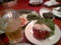 ビール&ナムル&ユッケo(^-^)o