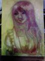 油絵でなんか描いてます。今日はここまで。