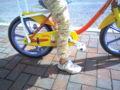 娘の自転車の補助輪が とれた(^o^)。私が補助輪とれたのは、小学校低学