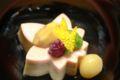 椀盛りは「紅葉豆腐」です。パプリカで着色しています。