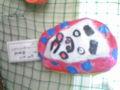 ゲンの小学校にて。動物だのヒーローだの、カワイイ手作りのお面が飾