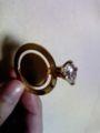 これは、指輪にみせかけたブックマーク(しおり) です。