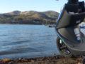 危うくスクーター後と山中湖に浸水するところでした・・・危なかった