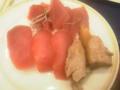 刺身と!寿司と!かぶと焼きでマグロ三昧!\^o^/