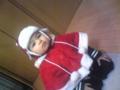 甥っ子がクリスマスっぽい