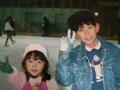 1994年の緋月と角眼鏡。