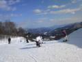 絶景! 午前スキー終了!バスで大変だったやりがいがある!! 日頃の