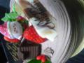クリスマスケーキ!中にチョコチップが入っててうまあー(*゜∀゜*)