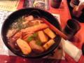 錦市場で京しっぽくうどんを食す。ダシと具はさすが。コシは ない。
