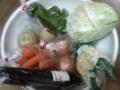 さっきの山盛り野菜ですが、まだ残ってます…傷む前に食べねば…