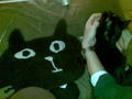 昨日撫でた黒猫