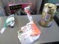 酒と鮪とiPod。 新幹線なう。