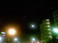 寒空にお月さまが煌々と