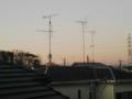 初日の出直前にひと足早く陽光を浴びる富士山