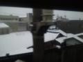 米原あたりなう。すごい雪だ