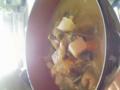 津軽の正月郷土料理、けのしる。荒い大豆と野菜の味噌仕立て。