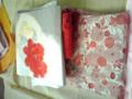 明日着る予定の着物。妹は菊と牡丹。