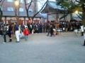 花園神社 来た。けど、並びたくない。