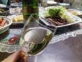 夕飯。今日は白いの飲も。 L:群馬県藤岡市  #nobu_gourmet
