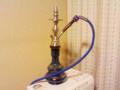 中沢の部屋にある水タバコの吸引道具♪