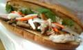 高田馬場にオ−プン予定のお店で、ベトナム風サンド試食中。