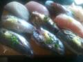 魚市場で初荷のさんまとかます他購入。刺身用さんまは100g30円で2本で60