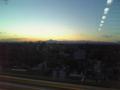 楽天タワーから見える夕日の富士山があまりにも美しいので写メしてみ