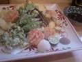 季節野菜の天ぷら(小)ボリュームありすぎワロタ