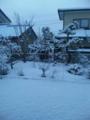 雪が積もったった><