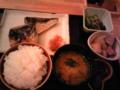 銀座ライスにて。小鉢が充実しているのがうれしい。これで千 円。少