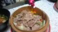 豚肉のセイロムシをしょくすよー胡麻ダレで食う!