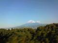 本日の富士山。きれいだ。