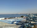 朝の富津岬の様子。富士山もうっすら見えたりしてました。