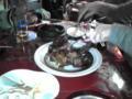 モンゴル料理屋なう。骨付き羊肉がきたよ。色々旨い。