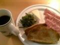 Buon giorno a tutti :) colazione.おはようございます。朝ご飯も普段モードに戻