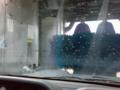 洗車ナウ。すごい嵐みたい