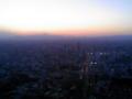 スカイデッキなう。富士山が夕日に。