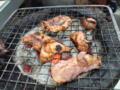 ハツ、カシラ、鶏肉。