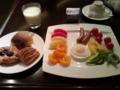 おはようございます。今日が京都展最終日です。今、食事中です。